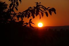 Sonnenuntergang im Osterzgebirge