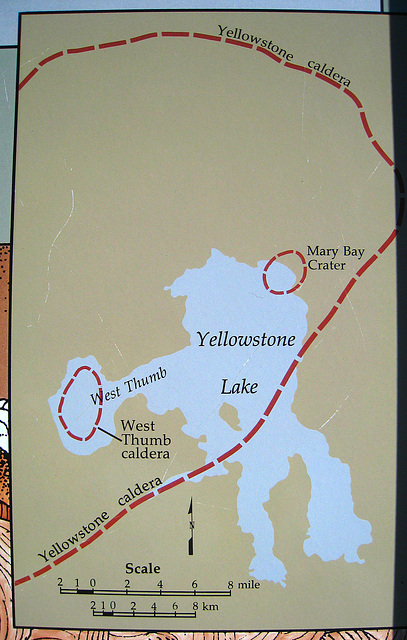 ipernity: West Thumb Geyser Basin compared to Yellowstone ... on map of grand prismatic spring, map of yellowstone geysers, map of mud volcano, map of firehole canyon drive, map of mystic falls, map of yellowstone national park, map of old faithful area, map of yellowstone river,