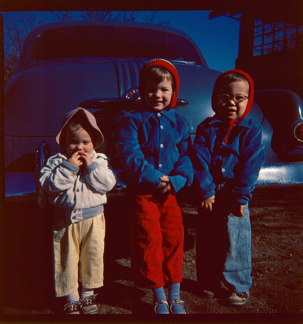 Mary, Lisa and John, about 1951, Grand Rapids
