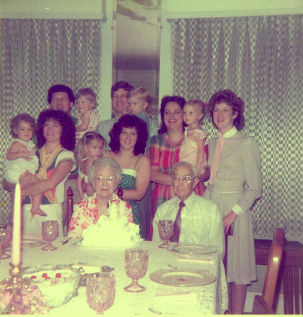 Stella Mae and Rufus Burton Parkes, June 1983, 60th wedding anniversary