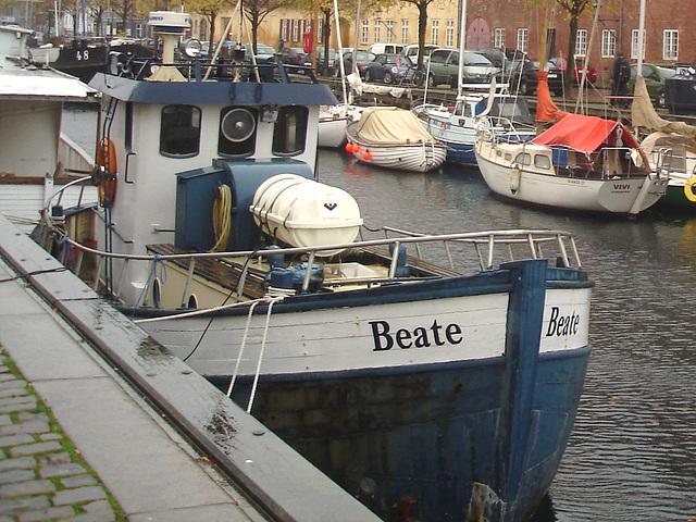 Le bateau Beate /  Beate boat zone -  Copenhague /  Copenhagen.   26-10-2008