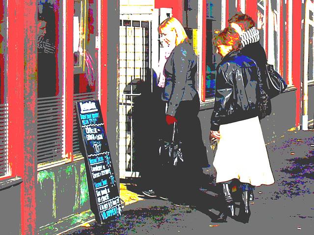 Le trio suédois à la Best western /  Best Western Swedish trio -  Ängelholm , Suède / Sweden.    Octobre 2008 -  Photofiltration