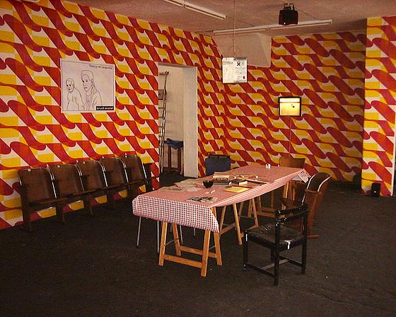 Kunstraum trudi.sozial temporär in der Allerheiligenstrasse. Juni 2003