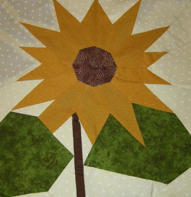 Kırkyama Ayçiçeğim... My Patchwork Sunflower...