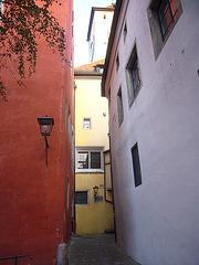 Regensburg - Gasse Roter Herzfleck