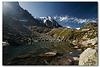 Le lac bleu et l'Aiguille du Midi