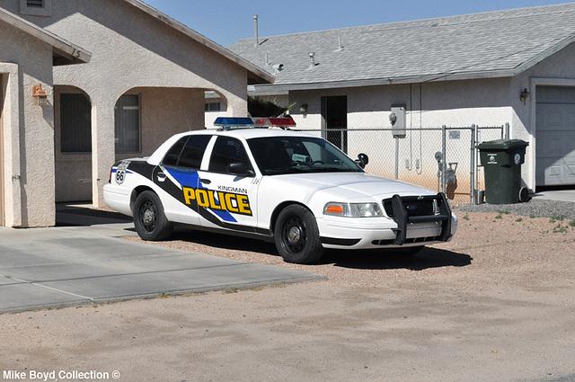 AZ kingman police ford crown vic 04'14