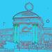 Le palais du cirque /  Circus Palace.   Copenhague / Copenhagen.  26-10-2008- Contours de couleurs en bleu