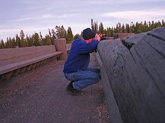 Andy On Fishing Bridge (4242)