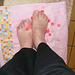 Petons étoilés /  Starry feet -  Mon amie / my friend Krisontème.  Avec / with permission