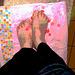 Petons étoilés /  Starry feet -  Mon amie / my friend Krisontème.  Avec / with permission - Postérisation