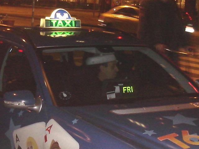 Taxi poker T6  -  L'as du volant !  .   Copenhague.  26 octobre 2008
