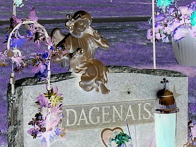 Cimetière St-Charles / St-Charles cemetery -  Dover , New Hampshire ( NH) . USA.   24 mai 2009 - Dagenais en négativité