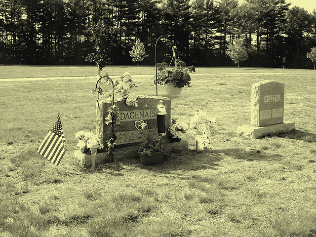 Cimetière St-Charles / St-Charles cemetery -  Dover , New Hampshire ( NH) . USA.   24 mai 2009 - Dagenais & Buzzell.  Vintage