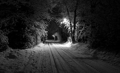 Winter's night down the lane