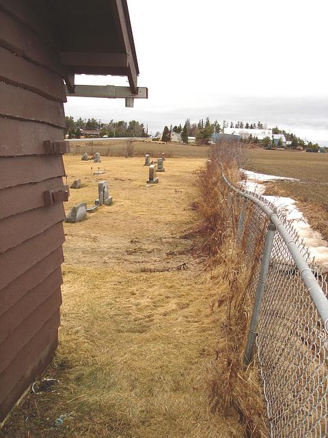 Cimetière Mountain view près du lac Saranac / Mountain view cemetery