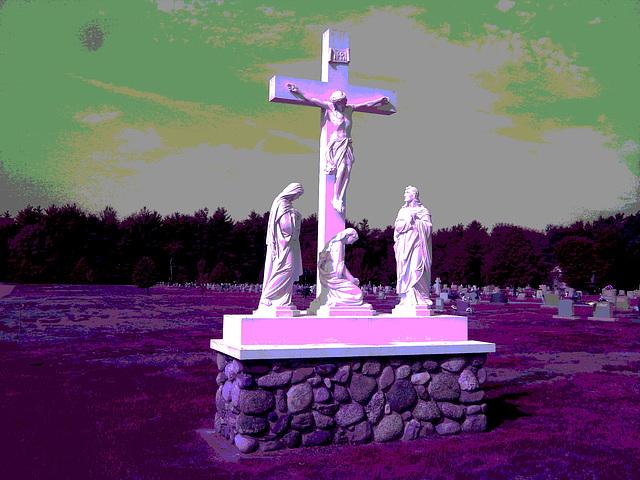 Cimetière St-Charles / St-Charles cemetery - Inversion RVB