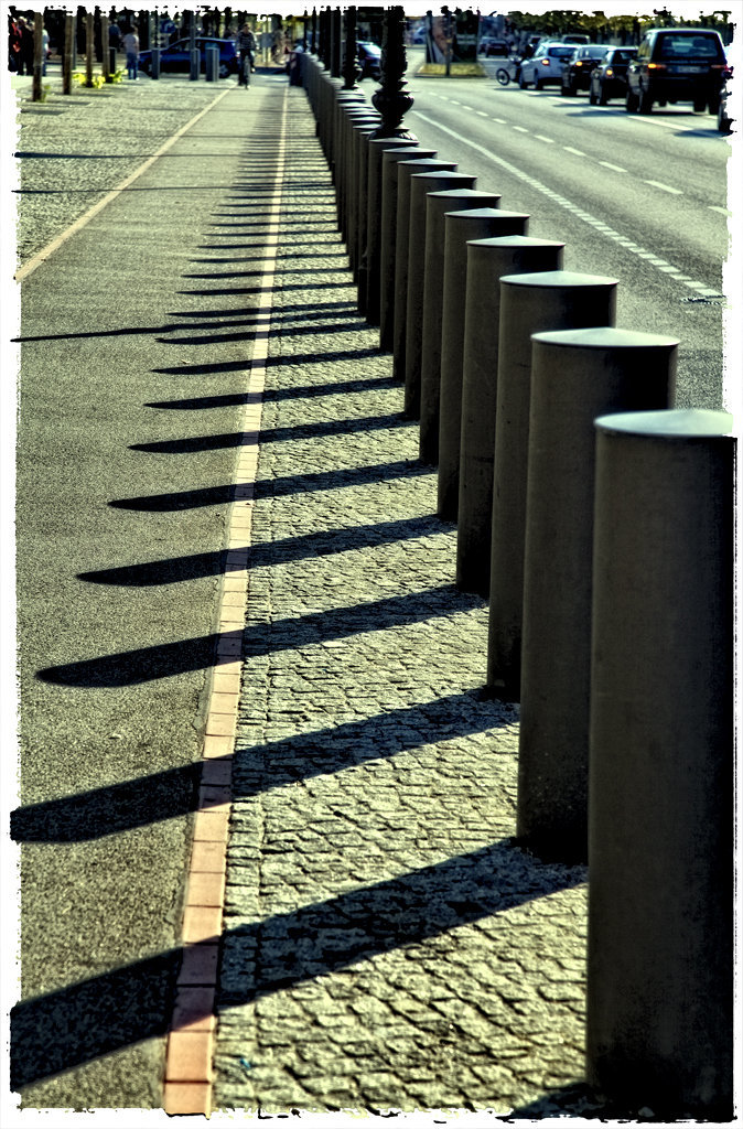 shadows on the street