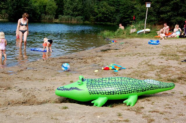 Helpu! Krokodilo! Banantoj kaj esperantistoj en danĝero!!!