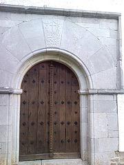Puerta de la ermita de la Virgen de Muskilda (Navarra)