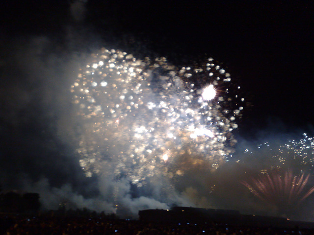 Fuegos artificiales.