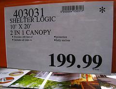 Costco Tent $200 (4415)