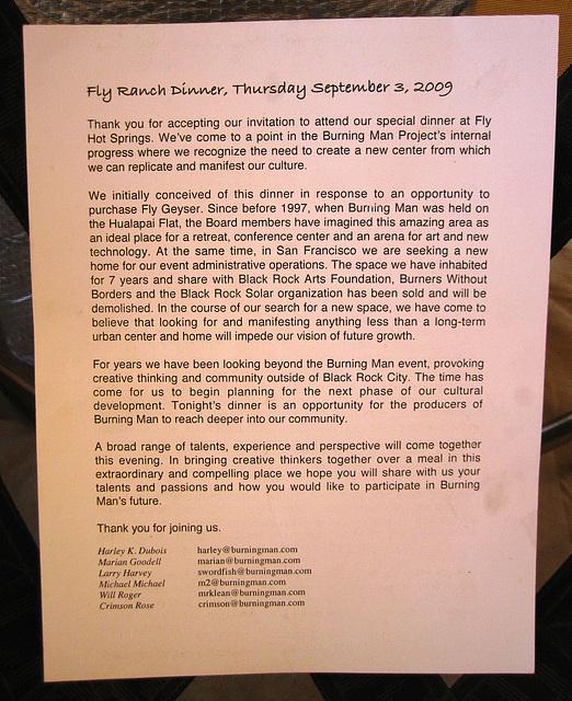 Invitation To Fly Ranch Dinner (0434)