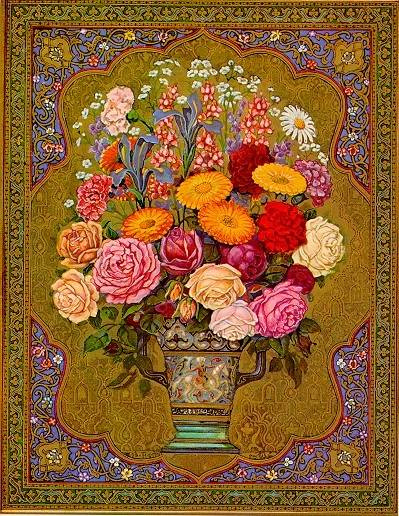 Bouquet de fleurs, œuvre de Mohamed Râcim