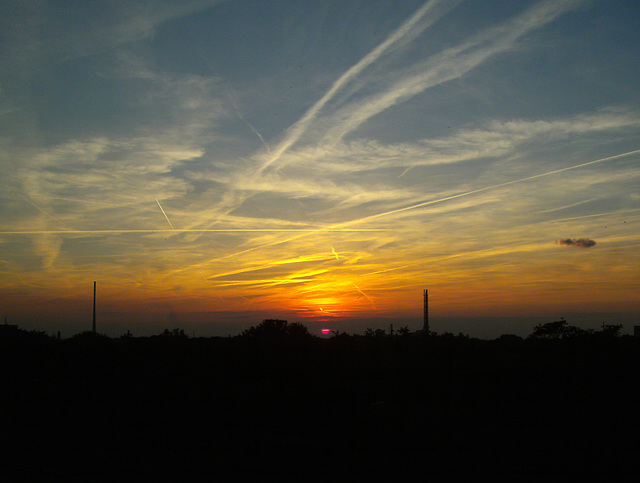 sunset at Duisburg