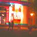 Éclairage cinématographique de soir / Cinema lighting.   Copenhague /  Copenhagen.  25-10-2008 - Couleurs ravivées