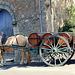 livraison de vin à l'ancienne