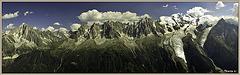 Vue sur le massif du Mont Blanc depuis le Brévent
