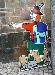 Das Klettermännchen in Wehlen