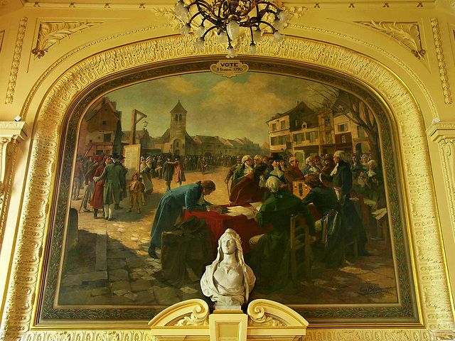 PICT19158ac Clichy Town Hall Council Room Large Oil Painting