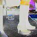 Bagels et bottes à talons hauts au menu / Bagels & booted Danish duo -  Copenhague / Copenhagen.  20 octobre 2008 - Effet de négatif et couleurs ravivées