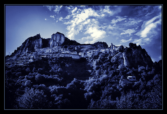 blue secrets in the mountain village