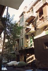 Egypte maisons anciennes de style occidental à visage humain