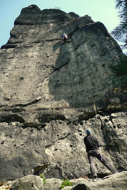 """Klettern an der """"Hunskirche """""""