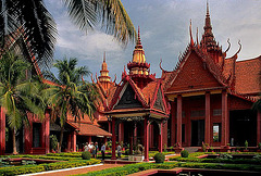 Inside the National Museum of Cambodia