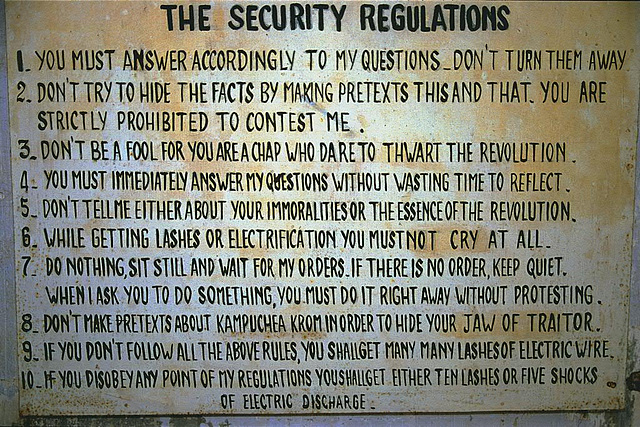 The rules in the prison
