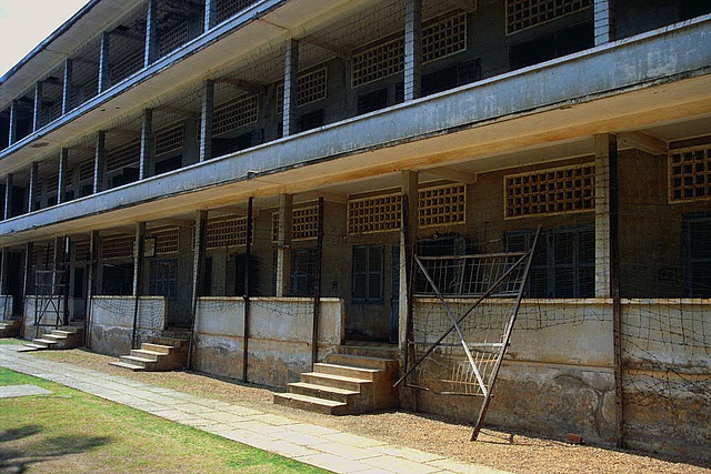 Exterior of the Tuol Sleng Genocide Museum