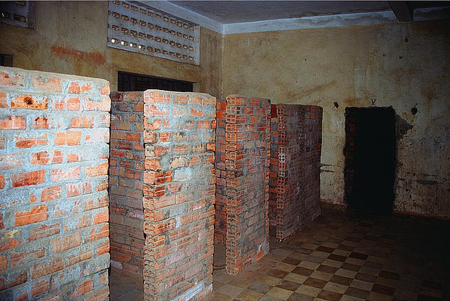 The cells in the former school buildings