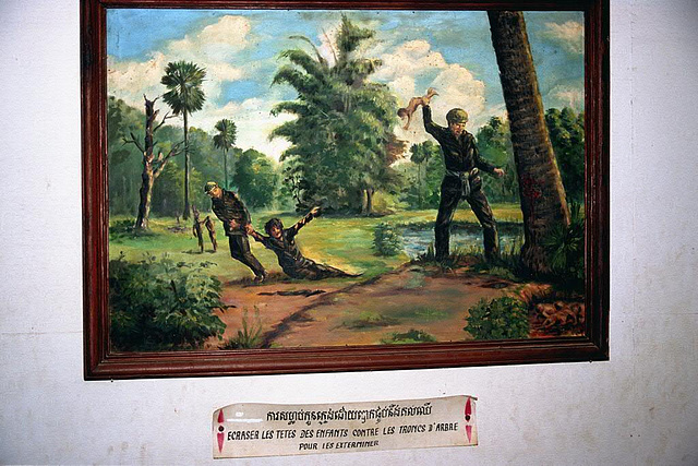 Painting which shows cruel history