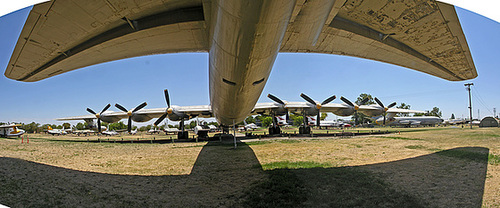 Consolidated-Vultee RB-36H Peacemaker - Panorama from the tail