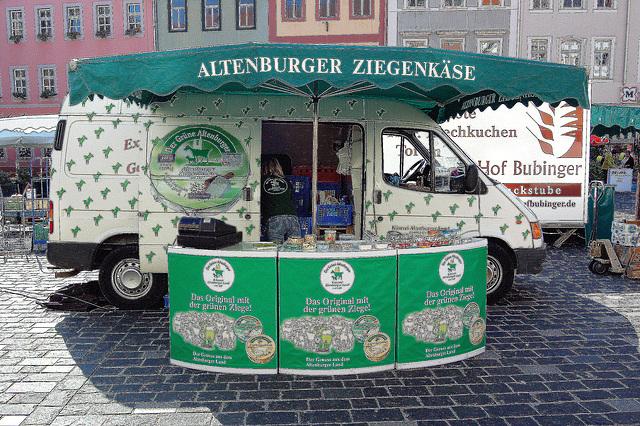 kaprinfromaĝo el Altenburg - Ziegenkäse aus Altenburg