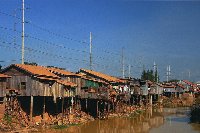 Poor and simple housing out of Phnom Penh