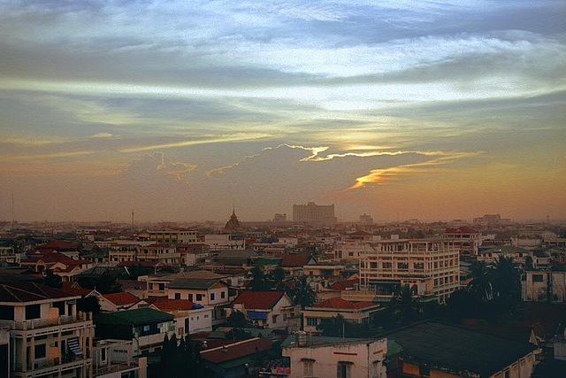 Sunset over Phnom Penh