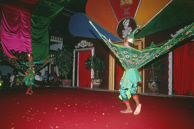 Peacock dress in Cambodian classical dance