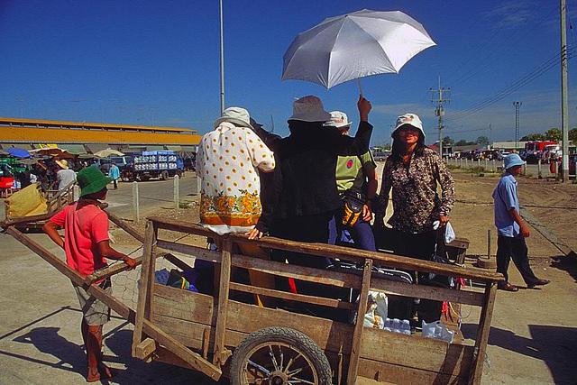 At the Cambodian border Poipet