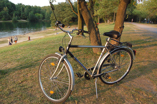 Sopira rigardo de mia biciklo